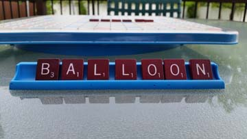 Balloon Scrabble Tiles